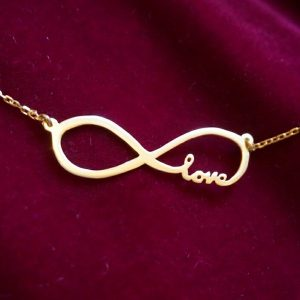 Infinite Love Necklace in Rose Gold