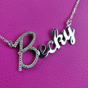 Personalised Glitz Necklace in Silver