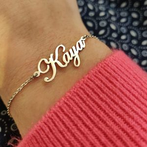 Personalised Name Bracelet in Gold
